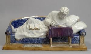 КП-30300 КФС-697   Фрих-Хар И.Г. Скульптурная композиция Пушкин на диване_1