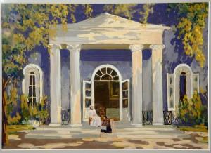1922 Евгений Онегин худ Матрунин Эскиз декорации 1 картина.tif